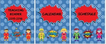 EDITABLE Superhero Binder and Folder Covers
