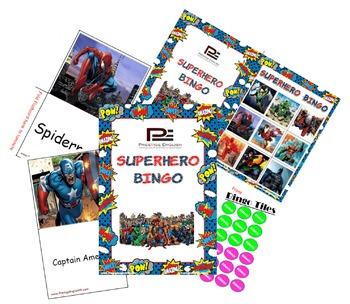 Superhero Bingo Game (Batman, Superman, Spiderman, Iron Man and more!!)