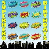 Superhero Birthday Bulletin Board Printables