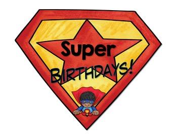 Superhero Birthday Bulletin Board, Editable