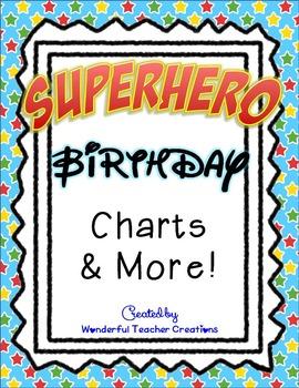 Superhero Birthday Charts & More!