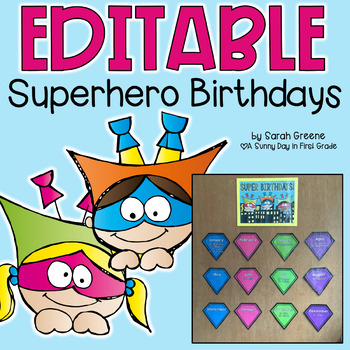 Superhero Birthday Display {editable!}