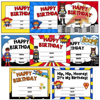 Superhero Birthday  ~ Editable