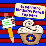 Superhero Birthday Pencil Toppers