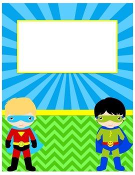 Superhero Blank Folder Cover