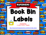Superhero Classroom Library Book Bin / Basket Labels
