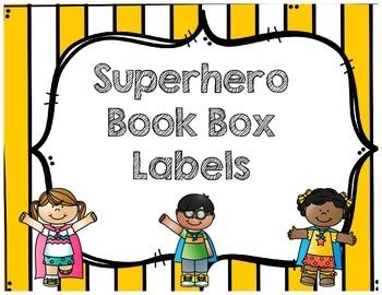 Superhero Book Box Labels