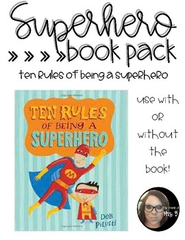 Superhero Book Pack: Ten Rules of Being a Superhero