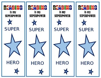 Superhero Bookmark