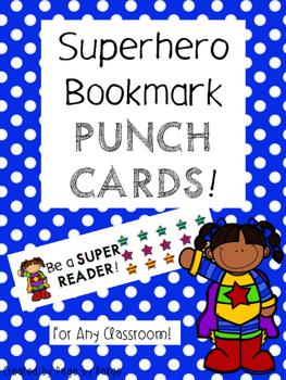 Superhero Bookmark Punch Cards-FREE
