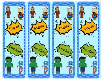 Superhero Bookmarks