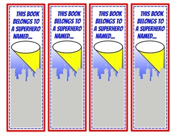 Superhero Bookmarks (Color)