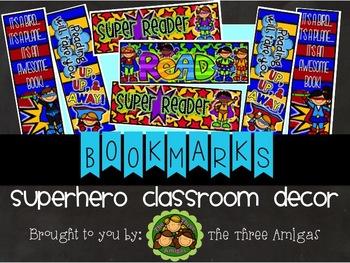 Superhero Bookmarks Set