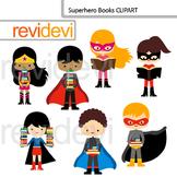 Superhero Books Clip art