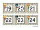 Superhero Boy Calendar Number Cards