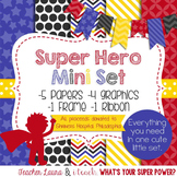 Digital Paper and Frame Mini Set Super Hero Boy