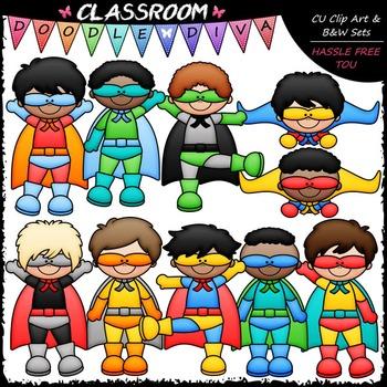 Superhero Boys Clip Art - Superhero Kids Clip Art