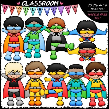 Superhero Boys Clip Art - Superhero Kids Clip Art