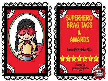 Superhero Brag Tag & Award Combo Pack--Non-Editable {FREE}