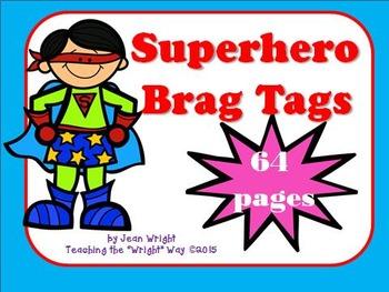 Superhero Brag Tags