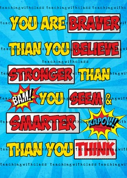Superhero Brave Poster