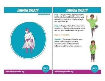 Superhero Breath Card Deck
