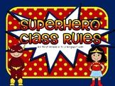 Superhero Bright Editable class rules