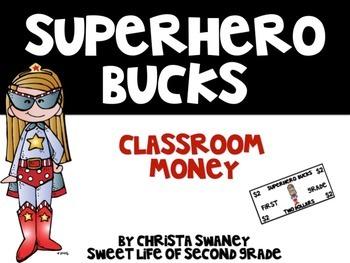 Superhero Bucks 2 Classroom Money