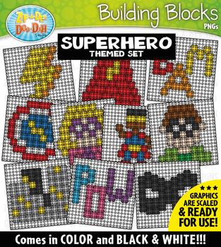 Superhero Building Blocks Clipart {Zip-A-Dee-Doo-Dah Designs}