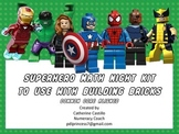 Superhero Building Brick Math Night Kit Common Core Activities K-5