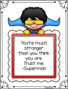 Superhero Bulletin Board Positive Quotes for Character Education