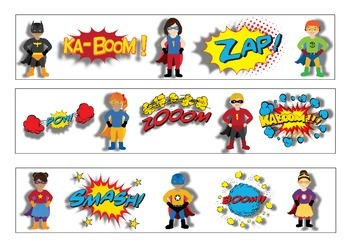 Superhero Bulletin Board Display Border