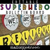 Superhero Bulletin Board Editable