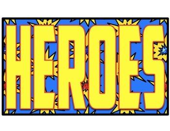 Superhero Bulletin Board Headers and Decor
