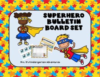 Superhero Bulletin Board Set By Mrs Ds Kindergarten