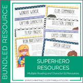 Superhero Resources Bundle: Literature Circles, Task Cards