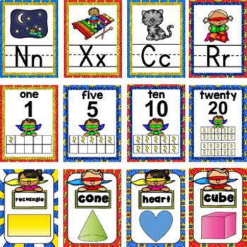 Superhero Bundle- Classroom Decor