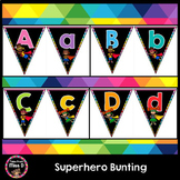 Superhero Letter and Number Bunting
