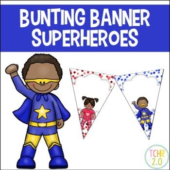 Bunting Banners Superhero