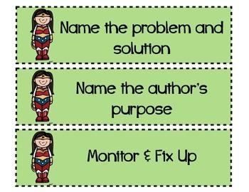 Superhero CAFE Menu Strategy Cards