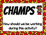 Superhero CHAMPS Clip Chart