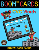Superhero CVC Words and Pictures BOOM Cards™ Distance Learning