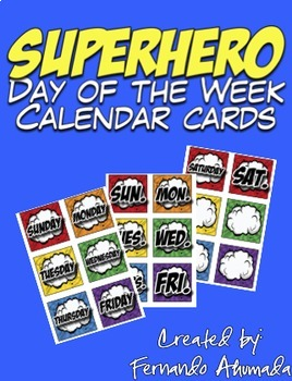 Superhero Calendar BUNDLE!
