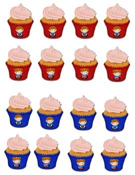 Superhero Calendar Birthday Cupcakes