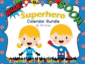 Superhero Calendar Bundle