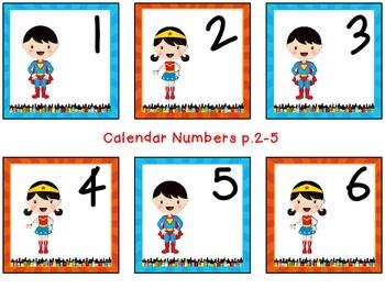Superhero Calendar Extras