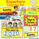 Superhero Calendar Headers Classroom Decor