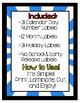 Superhero Calendar Labels