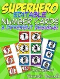 Superhero Calendar Number Cards