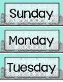 Superhero Calendar Pieces **Months, Days, Numbers